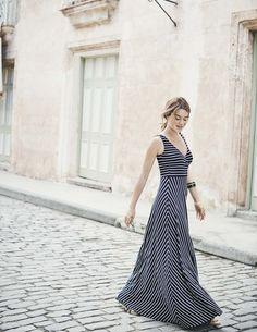 Full Skirt Maxi Dress | STRIPES.