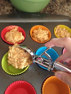 Oatmeal Pumpkin Muffins - yum! I doubled the recipe and added chocolate chips. It made 36 regular muffins! So yummy and no sugar! Honey sweetens it well! Do yourself the favor, though, and add chocolate chips! :)