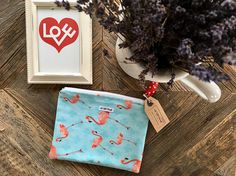 Your place to buy and sell all things handmade Travel Cosmetic Bags, Travel Bag, Flamingo Print, Makeup Essentials, Christmas Presents, Bag Making, Pink Blue, Fabrics, Pouch