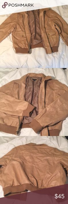 Gap leather jacket Leather bomber jacket great condition GAP Jackets & Coats