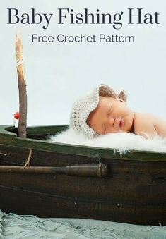 Free Crochet Pattern - Baby Fishing Hat or Sun Hat. Perfect for keeping the sun out of little eyes! Add a flower or ribbon for girls, too! Crochet Hats For Boys, Crochet Baby Hats, Baby Blanket Crochet, Free Crochet, Irish Crochet, Crochet Cocoon, Kids Crochet, Crochet Beanie, Crochet Toys