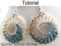 Beading Tutorial Pattern Beaded Earrings Jewelry Making Easy Beading Patterns, Beaded Earrings Patterns, Beading Tutorials, Beaded Bracelets, Bead Patterns, Weaving Patterns, Bracelet Patterns, Mosaic Patterns, Knitting Patterns