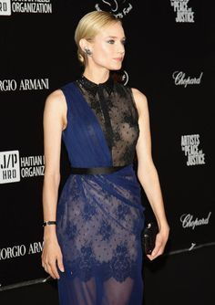 Diane Kruger Cannes Film Festival Lookbook: We love her dark cobalt and black two-toned lace gown.