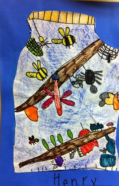 Art: Expression of Imagination: kindergarten art lesson - Last year I did this lesson and incorporated observation drawing using real jars