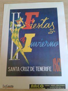 Cartel de las Fiestas de Invierno de Santa Cruz de Tenerife, año 1962