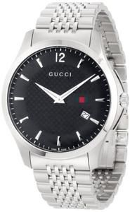 8ff8ad2522e Gucci Men s G-Timeless Slim Case Black Dial Signature Gucci Green Red Green  Web Design Watch