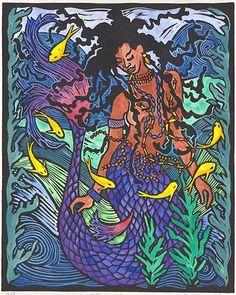 divinemoon:  Beautiful artwork done on Yemaya.