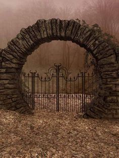 UNRESTRICTED - Autumn Gate Background by frozenstocks on DeviantArt MZLoweRPP verified link on Source: frozenstocks. Artist: Andreea C Artist's Title: Autumn Gate Background Architecture Art Nouveau, Moon Gate, Garden Gates, Abandoned Places, Belle Photo, Arches, Garden Design, Beautiful Places, Scenery