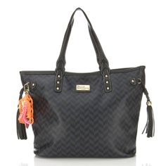Paul's Boutique - 'Frankie' in Navy and Black Chevron