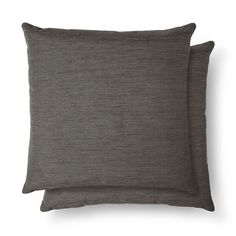 The (2pk) Solid Throw Pillow from Threshold is a great set to mix and match with patterns on the sofa. These two accent pillows can bookend a loveseat or couch.