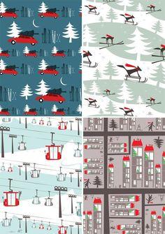 Pleased to Meet Holiday Gift Wrap http://www.pleasedtomeet.de/en/paper/wraps/