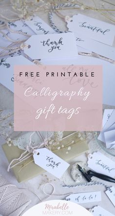Shabby chic calligraphy gift tags, FREE printable. Visit to join #gifttags #freeprintable#diy #shabbychic #calligraphy
