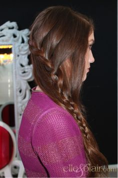 The waterfall braid. I haven't seen this before but its looks cute!