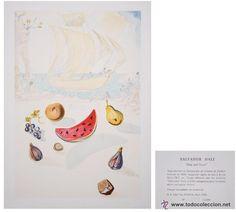 Salvador Dalí / Barco y frutas