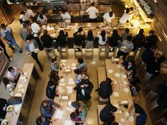 Established by chef and founder David Chang, Momofuku includes restaurants in NYC, Sydney, Toronto and Washington, DC. Momofuku Milk Bar, Best Restaurants In Toronto, York Restaurants, Restaurant Concept, Restaurant Design, Japanese Restaurant Interior, Cafe Interior, Interior Design, Recipes