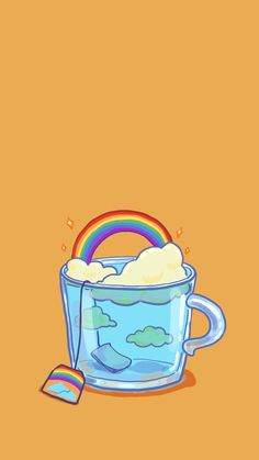 Uyoo — [ Wallpaper of Cup Illustrations Series ] (Phone. phone Uyoo — [ Wallpaper of Cup Illustrations Series ] (Phone. Cartoon Wallpaper, Wallpaper Tumblr Lockscreen, Kawaii Wallpaper, Pastel Wallpaper, Wallpaper Pc, Aesthetic Iphone Wallpaper, Aesthetic Wallpapers, Wallpaper Samsung, Drawing Wallpaper