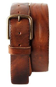 Trafalgar Trafalgar 'Winslow' Leather Belt available at #Nordstrom