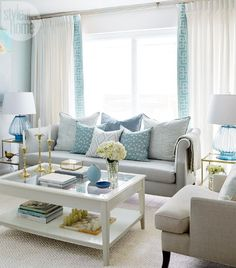 #DecorInspiration 49 Adorable Turquoise Living Room Ideas to Brighten Up Your Home #UrbanHome
