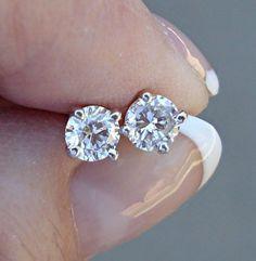 Gia Certified Diamond Stud Earrings 0 68 Carat Si1 D And Si2 G 4