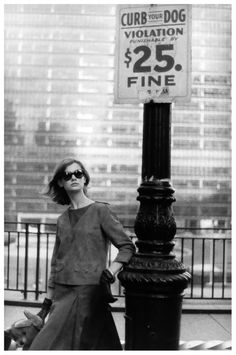 Jean Shrimpton in New York City photographed by David Bailey for Vogue, 1962