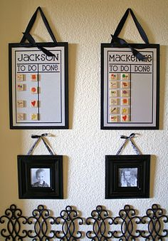 I want chore charts like this for the boys ... but I want to think about what chores first.