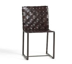 Thomas Leather Strap Side Chair #potterybarn