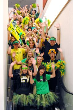 "Oregon Ducks ""Spirit Day"" at work 2011 #nationalbrand"