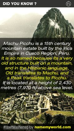 So how will you name your baby? Hint : Use our apps > bit.ly/NMWiphone / bit.ly/NMWandroid  #HowItWasNamed #MachuPicchu