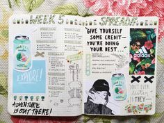 I like the idea of having a spread for each week, where I can kind of do a bullet journal type thing, set goals, and write down inspirational quotes for the week