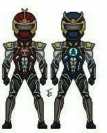 Thunder Ninja Rangers Power Rangers Ninja Storm, Thunder, Samurai, Samurai Warrior