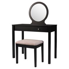 Add a sophisticated touch to your powder room or master suite with this 2-piece vanity set, showcasing 1 drawer, a sleek contemporary mirror, and a coordinat...