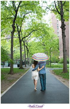 New York City Stuyvesant Town Engagement Session Ideas Umbrella    http://www.facebook.com/angelicacriscuolophotography