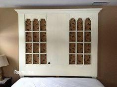 repurposed doors into a king size headoard, bedroom ideas, diy, doors, repurposing upcycling, woodworking projects