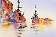Waterline. watercolor by Teresa Ascone