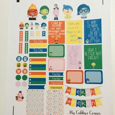 Disney Planner Sticker Set Inside Out by LittlePixiePaperie