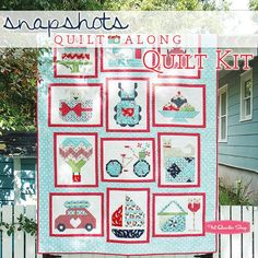 Snapshots Quilt Along with Fat Quarter Shop and St. Jude