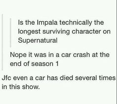 Thats Supernatural for you!