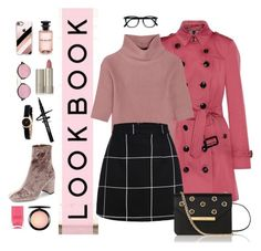 """Retro/Mod Pink"" by alicelove17 ❤ liked on Polyvore featuring Burberry, MAC Cosmetics, Allude, Ilia, L.K.Bennett, Nails Inc., Illesteva, Casetify, Marc by Marc Jacobs and Jeffrey Campbell"
