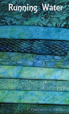Running Water by Island Batik - Freemotion by the River