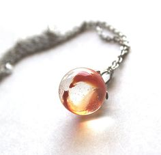 1960s playful vintage cats eye glass marble necklace by Bunnys, $17.00