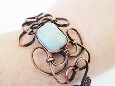 Amazonite Copper Cuff Bracelet