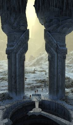 Gate in an empire Aid. Expedition. by Alexandr Melentiev