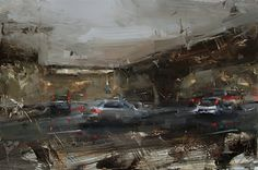 A Drive Under Darkening Skies by Tibor Nagy Oil ~ 15,7 x 23,6