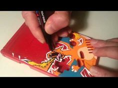 This Custom Game Boy With Pokemon Charizard Is An Absolutely Amazing Art Work! Pokemon Charizard, Gameboy Pokemon, Retro Video Games, Video Game Art, Game Boy, Diy Arts And Crafts, Crafts For Kids, Nintendo Switch System, Custom Consoles
