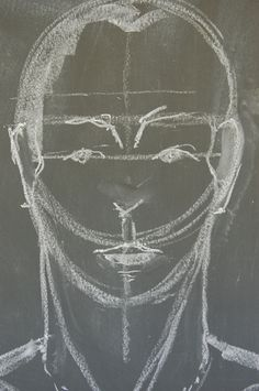 Waldorf ~ 8th grade ~ Human Anatomy ~ Face ~ chalkboard drawing