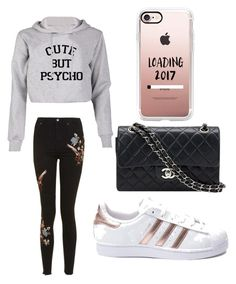 """""""Untitled #3"""" by dariana-achim on Polyvore featuring Topshop, Chanel, adidas and Casetify"""