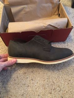 2ae04432a9b Red Wing 3119 Postman Oxford Charcoal Rough   Tough Grey Leather Shoes Size  12 D