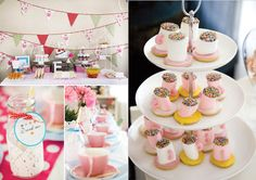 Steeped Tea Decor with Teacups Teapots Parties