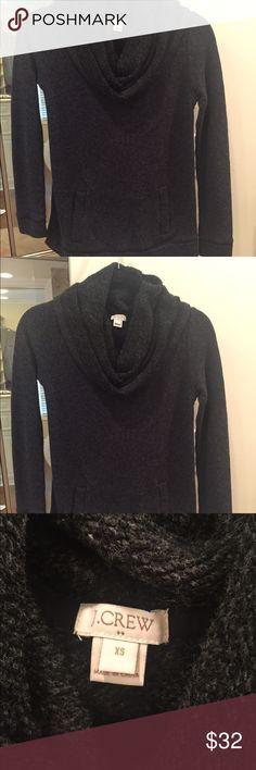 Jcrew cowl neck sweatshirt Worn once! Large cowl neck, front pockets J. Crew Tops Sweatshirts & Hoodies
