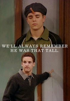 "Kenny. | 22 Hilarious Quotes From The Murder Mystery Episode Of ""Boy Meets World"" actually click and read! SO FUNNY!"
